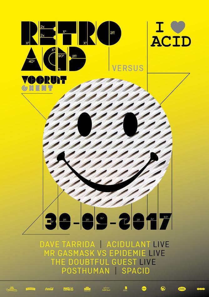 Retro Acid x I Love Acid - Sat 30-09-17, Kunstencentrum Vooruit